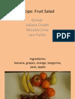 Our Food - Fruit Salad