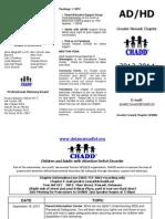Greater Newark CHADD 2013-14 Brochure