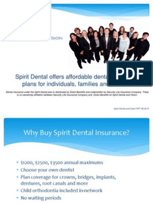 Why Spirit Dental Powerpoint Dentistry Life Insurance