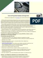 Curso de Proyectista Instalador de Energía Solar