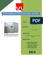 INFORME CÁMARA DE FRIO