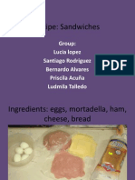 Our Food - Sandwiches