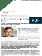 La Deuda Alemana y Europa_ Una Larga y Curiosa Historia