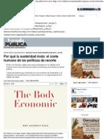 Por qué la austeridad mata, el coste humano de las políticas de recorte