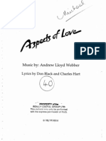 Lloyd Webber - Aspects of Love (Vocal Score)