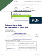 Índice del Curso Básico de Programación en Visual Basic