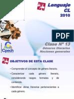 Clase 13 Lenguaje Cpech - Generos Literarios (OliverClases)