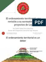 El ordenamiento territorial. Una revisión a su normatividad y proyectos de Ley