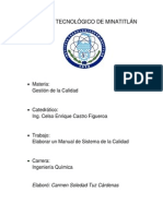 Manual de Gestion de La Calidad