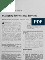 Kotler, Conor - Marketing professional services (cité 30) - 1977