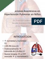 consideraciones anestsicas en hipertensin pulmonar en nios