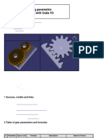 Designing gear in catia v5r14 howto | gear | pi.