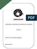 INTRODUÇÃO A PROCESSOS E METALURGIA DA SOLDAGEM - Unicamp