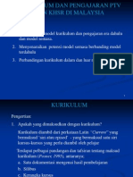 KURIKULUM DAN PENGAJARAN PTV DAN KHSR DI MALAYSIA