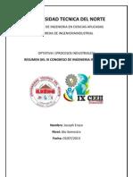 Resumen Congreso Ing. Industrial