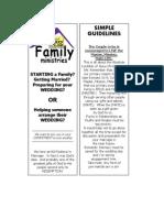 Pre Marital Guide Weddings Brochure