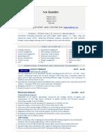 Logistics Manager CV