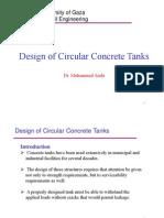 Design of Circular Concrete Tanks (Ppt)