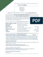 Rigger Crane Operator Banksman CV