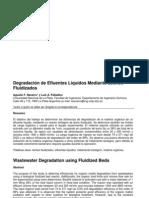 Degradación de efluentes líquidos