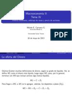 Política monetaria arbitraje de tasas y precio de acciones