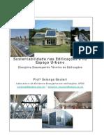 Sustentabilidade nas Edificações e no Espaço Urbano