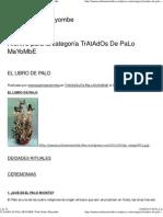 TrAtAdOs de PaLo MaYoMbE _ Todo Sobre Mayombe