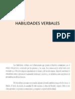 HABILIDADES VERBALES