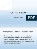 CS 312 Review