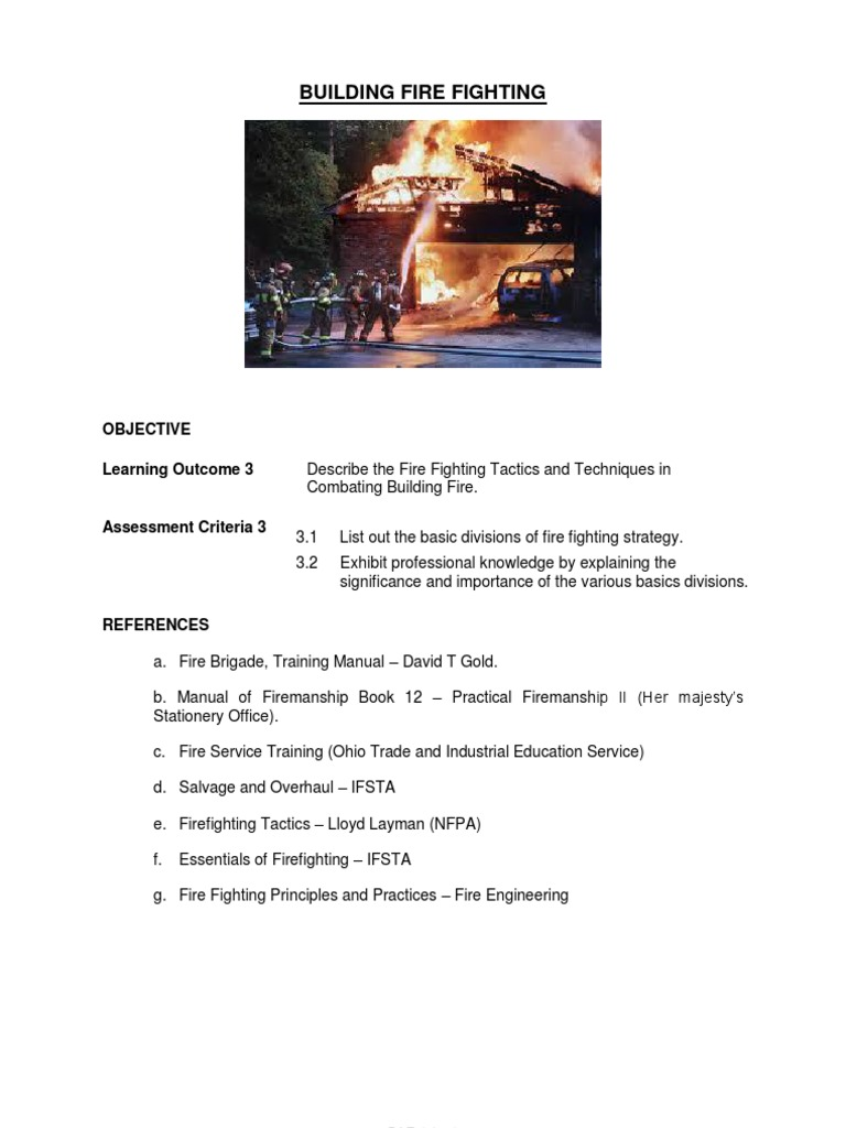 Building Fire Fighting | Firefighter | Fires ... Manual of Firemanship:  Ladders and Appliances ...