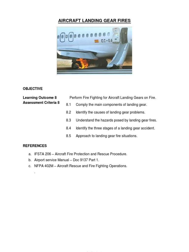 Aircraft Landing Gear Fires | Landing Gear | Tire