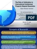 The Role of Arbitration in International Intellectual Property Defense PPT Slideshow