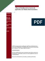 Plan de Estudios de la Carrera de Composición con Medios Electroacústicos