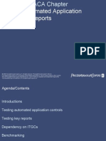 Testing Automated Application Controls & Reports