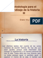 Metodolog�a para el aprendizaje de la historia III Teller de capacitacion - copia.pptx