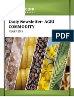 Daily Agri News Letter 12 July 2013
