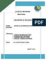 Informe de Visita a La Hidroelectrica Agoyan