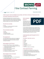 Principles of the Contract Farming Agreement