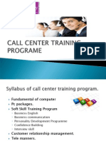 CALL CENTRE JOB/ TRAINING