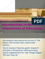 introductiontosocialdimensionsofeducation-130707155852-phpapp01
