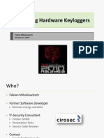 D1T1 - Fabian Mihailowitsch - Detecting Hardware Keyloggers