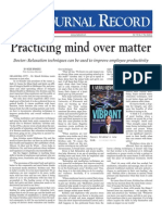 Practicing mind over matter