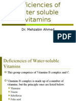 Deficiencies of Water Soluble Vitamins