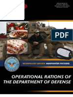 Rdecom Operational Rations of the Dod August 2012