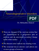 Degenerative Disorders of the Cns