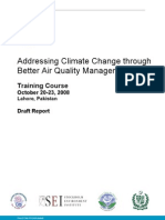 Addressing Climate Change through Better Air Quality Management- Tranining Course Pakistan.doc