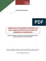 Modelo de Evaluación de Gestión y de Resultados a partir de los Planes de Desarrollo Municipales