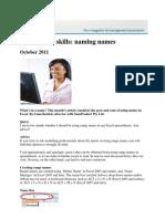 Spreadsheet Skills October 2011