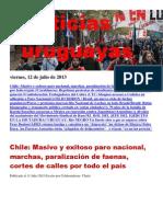 Noticias Uruguayas Viernes 12 de Julio Del 2013