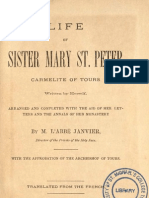M. L'Abbe Janvier, Director of the Priests of the Holy Face - Life of Sr. Mary of St. Peter, Carmelite of Tours - Autobiography of - The Golden Arrow